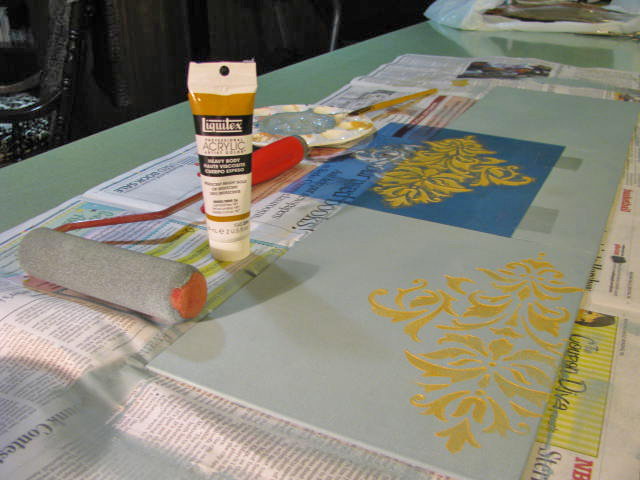 Materials used in creating stencil art